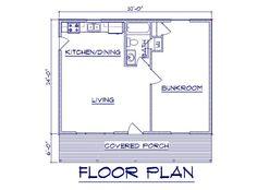 One Room Cabin Floor Plans | Bernard Building Center Chalet 24x52
