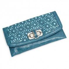 Clutch Handbag Dusty Blue Shoulder Strap Bag Front Lock Soft Faux Leather  http://stores.ebay.com/beachcats-bargains  beachcats bargains