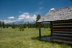 Cabin on the way to Kintla Lake in Glacier National Park
