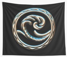 'Wave free your mind and go with the flow.' Tapestry by NocturnDesign Thing 1, Deep Sea, Textile Prints, Jewelry Shop, Wall Tapestry, Vivid Colors, Sculpting, Flow, How Are You Feeling