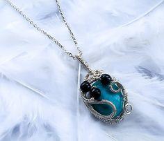 Bohemian Turquoise pendant  Wire Wrapped by KingsfieldInn on Etsy