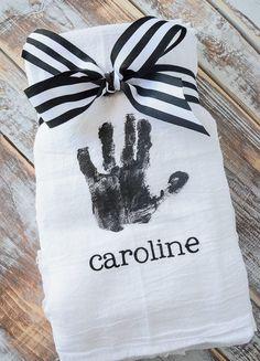 Handprint Dishtowels - The perfect tea towel idea for your home.
