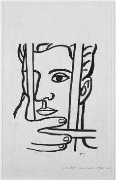 Fernand Leger - Portrait of Henri Martin Sketch Pen Drawing, Guy Drawing, Gif Sur Yvette, Graphic Design Illustration, Illustration Art, Picasso, Pop Art, Smart Art, Painting Collage