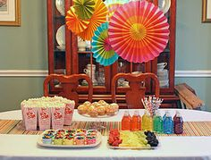 My rainbow party decor
