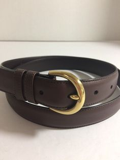"""COACH 8400 Brown Belt Cowhide & Solid Brass Size Extra Large Fits 35"""" x 39"""" MINT 