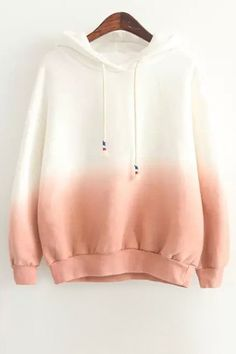 Dip Dyed Peach // Lined Sherpa Hoodie Cute Lazy Outfits, Teenage Outfits, Teen Fashion Outfits, Girl Outfits, Emo Fashion, Summer Outfits, Cute Sweatshirts, Damen Sweatshirts, Hooded Sweatshirts