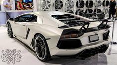 White DMC Aventador back