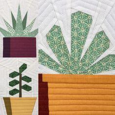 Succulent Trio Quilt Block Patterns | Craftsy