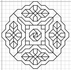 Paper Embroidery Patterns Imaginesque: Blackwork Embroidery: Frames/Borders (and Fill. Blackwork Patterns, Blackwork Embroidery, Paper Embroidery, Tangle Patterns, Learn Embroidery, Embroidery Patterns, Cross Stitch Patterns, Quilt Patterns, Graph Paper Drawings