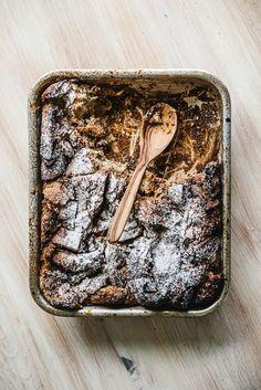 bread + nutella pudding