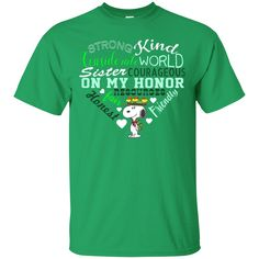 Sister Courageous On My Honor Girl Scouts Snoopy T Shirt Girl Scout Shirts, Girl Scout Badges, Girl Scout Troop, Brownie Badges, Girl Scout Camping, Snoopy T Shirt, Girl Scout Juniors, Daisy Girl Scouts, Girl Scout Cookies