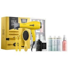 Shop Drybar's Brush Crush + Hot Toddy Deluxe Duo at Sephora. A heated straightening brush plus a deluxe sample of Drybar's new Heat Protectant Mist. Makeup Gift Sets, Makeup Kit, Beauty Products Gifts, Gift Sets For Women, Hair Tools, Beauty Routines, Hair Dryer, Sephora, Cool Hairstyles