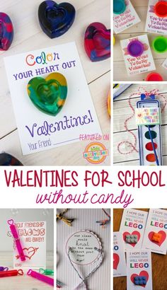 Kids Valentines For School Without Candy (and others)