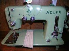 """My vintage 1958 Adler 189A Sewing Machine with a Adler 1.4 amp motor, dubbed by me """"Beauty and the Beast"""" machine :o) Low shank Zig Zag with 3 stitch pattern cams that came with machine when originally purchased. Apparently only 3 were part of this machine when first sold and you could purchase extra ones, but I think not many. The most I've seen was 5 total. Each cam assembly consists of two stitch pattern cams. Each cam section is machined from steel, not plastic resin like other vintage…"""