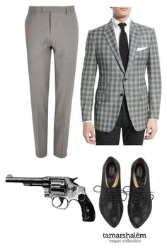 """""""Benny- Fallout New Vegas"""" by wareaglefan ❤ liked on Polyvore featuring River Island, Tom Ford, Revolver, men's fashion and menswear"""
