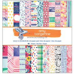 American Crafts Amy Tangerine Better Together Paper Pad 12x12