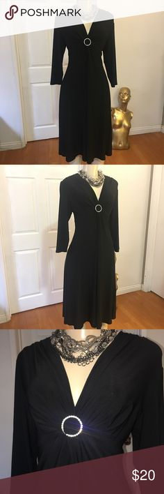 Beautiful Rhinestone Formal Dress ✅Condition: Excellent, no sign of wear, no flaws  💠Fabric: polyester/spandex  Description: beautiful flattering fit, fitted at top, Flared Skirt, very stretching. It would fit sizes 8,10,12 and probably 14. Rhinestone pin at chest  🔆Care: Dry Clean   👗Size: 12 •Length: 43 inches  •Chest: 38 inches  •Waist: 32 inches   ❗️PLEASE MEASURE YOURSELF BEFORE BUYING THIS ITEM TO AVOID ANY CONFUSION IN SIZING.  ❗️READ CAREFULLY ALL DESCRIPTION  ❗️ALL SALES ARE…