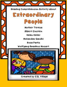Extraordinary People from ESL Village on TeachersNotebook.com -  (10 pages)  - Reading Comprehension Activity about Extraordinary People.