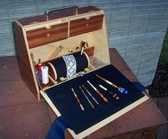 Original bolillero de rulo, en caja de madera muy versatil