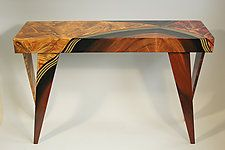 "Vienna Rectangular Console by Ingela Noren and Daniel  Grant (Wood Console Table) (32"" x 45"")"
