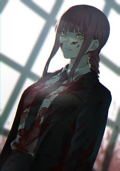 Emo Anime Girl, Kawaii Anime Girl, Anime Suit, Cute Fantasy Creatures, Man Icon, Fanart, Man Wallpaper, Illustration Girl, Chainsaw
