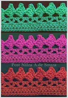Crochet edge edging