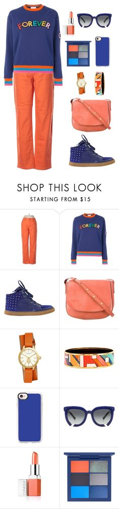 """""""Untitled #2181"""" by ebramos ❤ liked on Polyvore featuring Lauren Jeans Co., Mira Mikati, Mulberry, Mansur Gavriel, Tory Burch, Hermès, Casetify, Grey Ant and Clinique"""