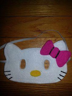 Hello Kitty Felt Mask Hello Kitty costume by CraftedCreationsKS, $5.00