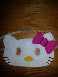 Hello Kitty Felt Mask Hello Kitty costume by CraftedCreationsKS, $5.00