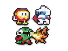 Dig dug + perler beads = pure awesomeness. I should add these to my Mario perler bead collection.