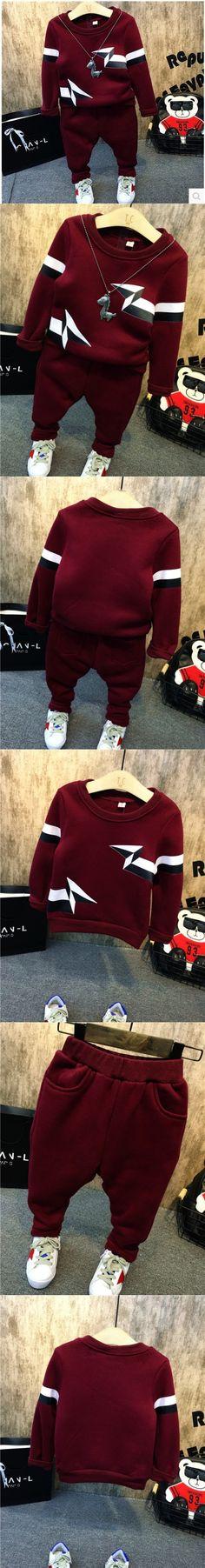 Festival christmas baby clothes set suits autunm winter 2016 kids clothes boys clothing sets active children sport suits retail $17.56