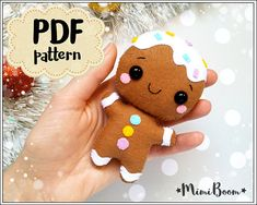 This is a digital tutorial on how to make Gingerbread Man Christmas ornament from felt  Included step by step instructions, pictures and full size pattern pieces (no need to enlarge or resize). Its completely hand sew and you dont need a sewing machine.  THIS IS NOT A FINISHED TOY. THIS IS A PDF PATTERN DOWNLOAD. All needed materials you must to purchase yourself.  Approx. size of toy is: about 4.5 inch (11.5 cm) tall.  PDF tutorial includes: - Step by step pictures - English step by step…