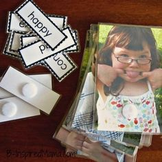Kids Emotions Matching Game with free printable from B-InspiredMama.com... adapting to the high school population