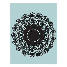 Sizzix Texture Fades Embossing Folder - Doily