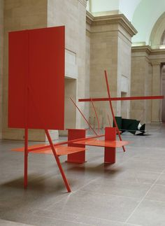 Sir Anthony Caro /// 1962 /// Early One Morning (Un matin tôt) /// Acier et aluminium, peinture rouge /// 290 x 620 x 335 cm Sculpture Projects, Sculpture Art, Contemporary Sculpture, Contemporary Art, Bauhaus, Anthony Caro, Tate Gallery, Action Painting, Art Object
