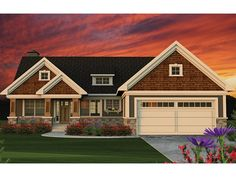 Ranch Home Plan with 1734 Square Feet and 2 Bedrooms from Dream Home Source | House Plan Code DHSW077585