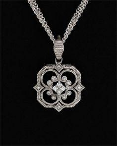 Leslie Greene 'Monarch' 14K & Silver .30 cttw. Diamond Necklace