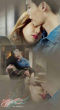 W Korean Drama, Korean Drama Romance, Drama Korea, W Two Worlds Wallpaper, World Wallpaper, Wallpaper Lockscreen, Lee Jung Suk, Lee Jong, Drama Film