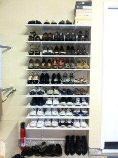 Image result for garage shoe racks
