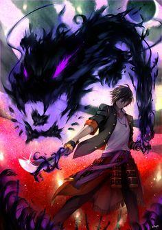 Touken Ranbu Ookurikara Fighting Fight Stance Anime Warrior Dark Anime Touken Ranbu