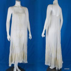 Antique Early 1900s Edwardian Chemise Slip Nightgown Lace & Ribbons http://stores.ebay.com/mmmosts-Old-time-Stuff-and-Threads