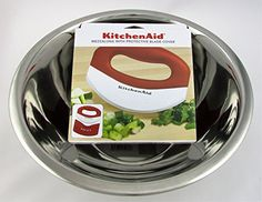 Mezzaluna subway salad chopper and bowl bundle  KitchenAid Red Mezzaluna cutter and Sheath  KJs Stainless Steel 4 QT Bowl Most convenient way to make a salad without messing up your kitchen
