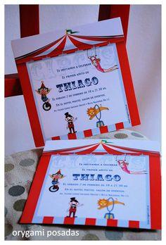 Invitación infantil circo