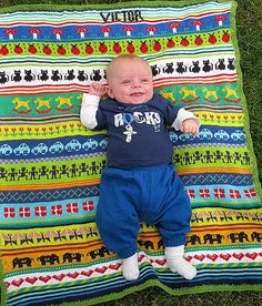 Fair Isle Knitting, Baby Knitting, Baby Blankets, Crocheting, Knit Crochet, Diy And Crafts, Kids Rugs, Plaid, Children