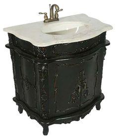 Skull Bathroom Sink : Gothic Bathroom for the Modern Bathory on Pinterest Gothic bathroom ...