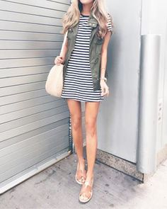 1cf66a40fc8 utility vest paired with a Summer dress on Pinteresting Plans fashion blog  Summer Vacation Outfits