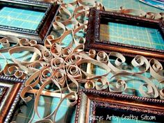 faux filigree frame made from toilet paper tubes  DIY  TUTORIAL