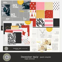 December Daily - pack complet | ange designs