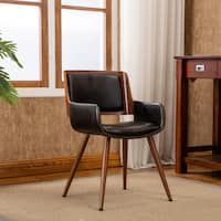 Corvus Madonna Mid Century Walnut And Black Finish Accent Chair Modern Furniture Living Room Furniture Living Room Chairs