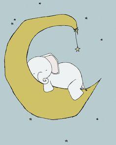 Elephant Nursery Art Prints Nursery Decor Dream Big